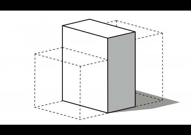 bouwvolume: een tussenwoning van 6,6 x 12 x 16 meter
