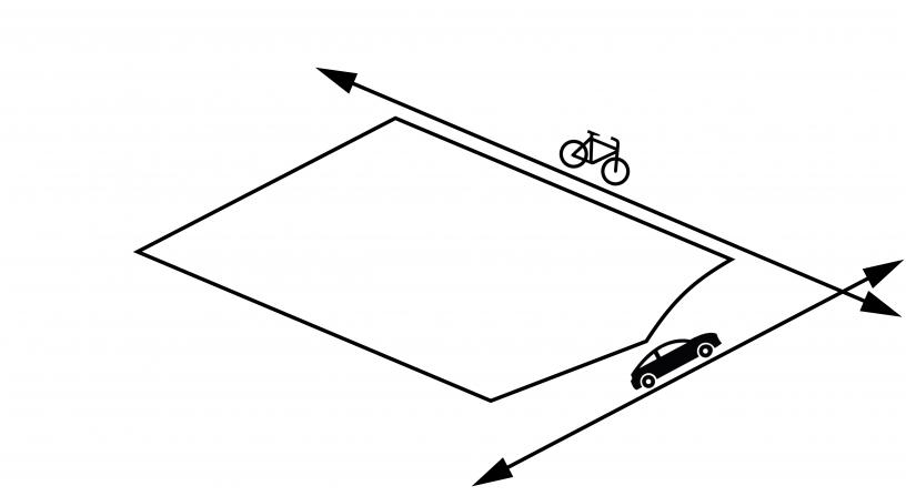 kavel woning ligt aan fietspad en aan straat